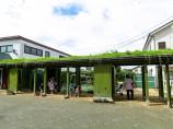 福知山丹陽保育園 草屋根の渡り廊下