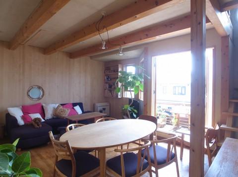 御影草屋根の家